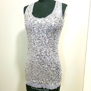 XXI sequin tank top, size small